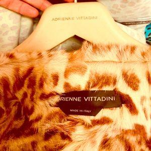 Adrienne Vittadini Suede Animal Fur Jacket